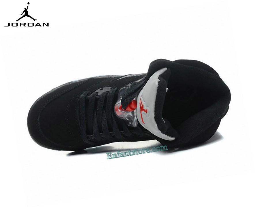 Run Chaussures Air Jordan 5/v Retro Gs  Black Metallic - Run Chaussures Air Jordan 5/v Retro Gs Black Metallic-3