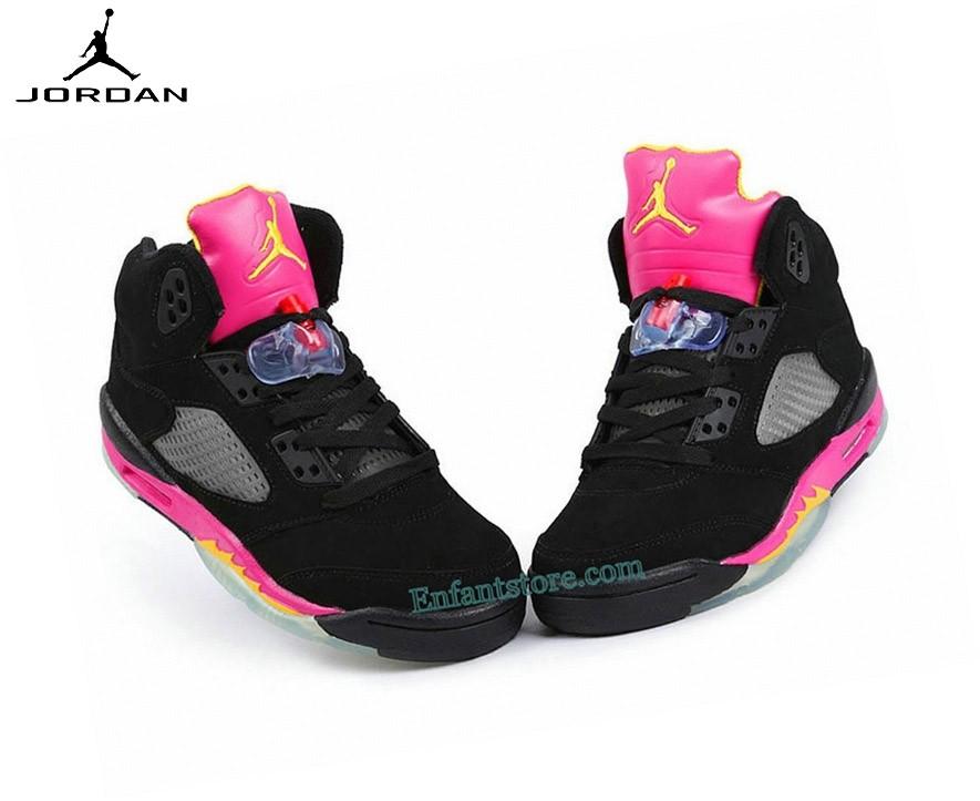 Run Chaussures Air Jordan 5/v Retro Gs Citrus/Floridan 440892-067 - Run Chaussures Air Jordan 5/v Retro Gs Citrus/Floridan 440892-067-5