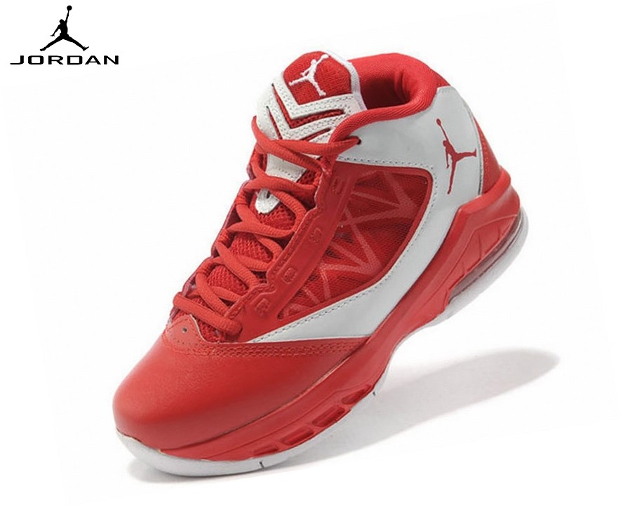 Jordan Flight The Power Chaussures Basket_Ball Garçon Blanc/Rouge Tn Requin Rose - Jordan Flight The Power Chaussures Basket_Ball Garçon Blanc/Rouge Tn Requin Rose-1