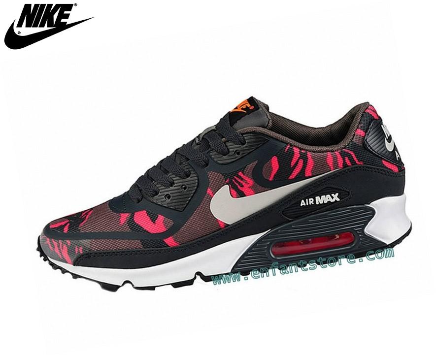 Nike Air Max 90 Homme Sneakers Prem Tape Noir/Rouge - Nike Air Max 90 Homme Sneakers Prem Tape Noir/Rouge-0