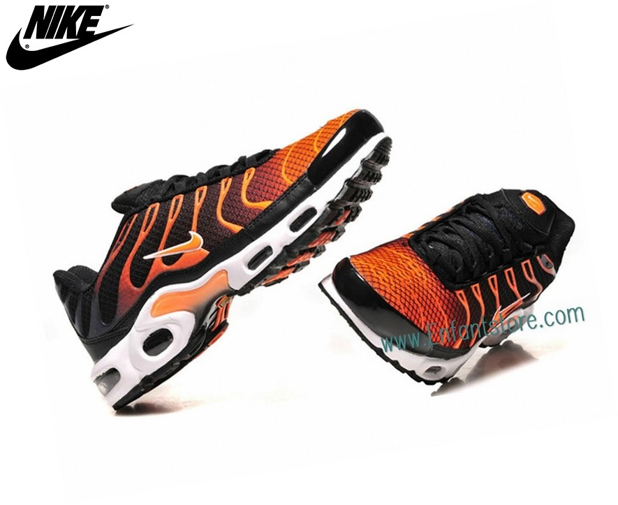 Nike Air Max Baskets Homme Plus (Tn Requin) Tn Noir/Orange - Nike Air Max Baskets Homme Plus (Tn Requin) Tn Noir/Orange-2