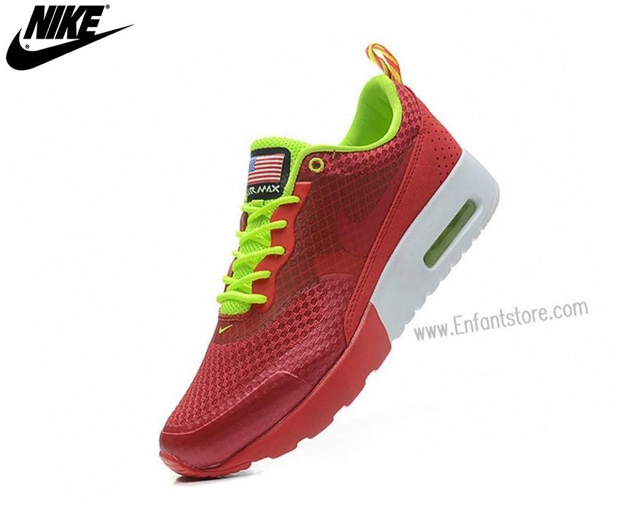 Nike Run Chaussures Homme Air Max Thea Print Usa Rouge - Nike Run Chaussures Homme Air Max Thea Print Usa Rouge-4