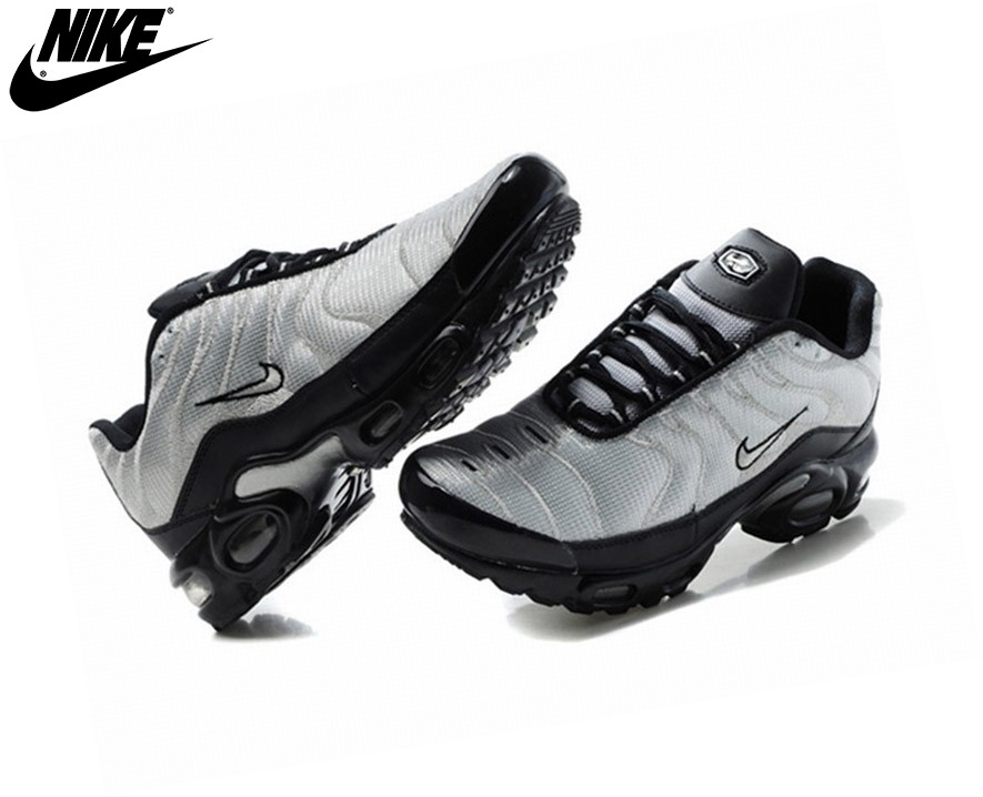 Nike Homme Chaussures De Course Tn Requin/Nike Tuned Argent/Noir - Nike Homme Chaussures De Course Tn Requin/Nike Tuned Argent/Noir-1