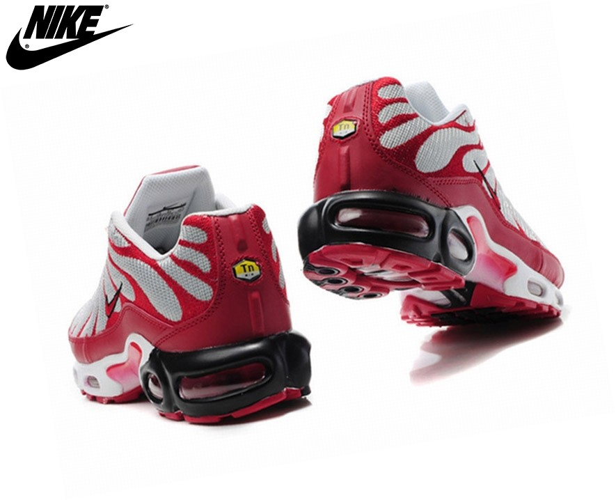 Nike Homme Chaussures De Course Tn Requin/Nike Tuned Argent/Rouge - Nike Homme Chaussures De Course Tn Requin/Nike Tuned Argent/Rouge-2