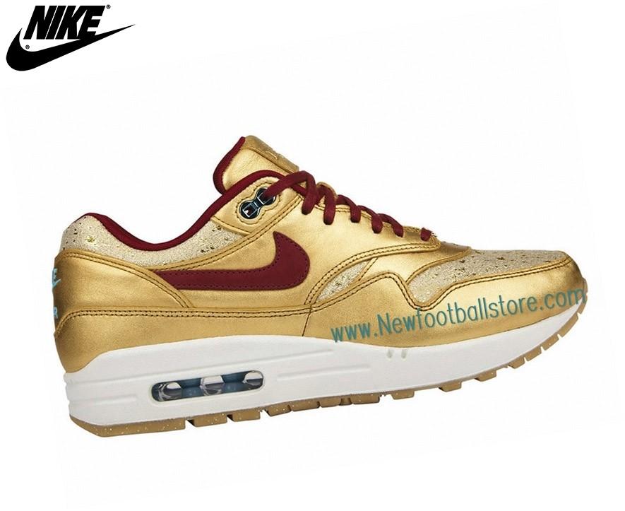 Nike Femme Sneakers Wmns Air Max 1 Sp Liquid Metal Gold 616170-700 - Nike Femme Sneakers Wmns Air Max 1 Sp Liquid Metal Gold 616170-700