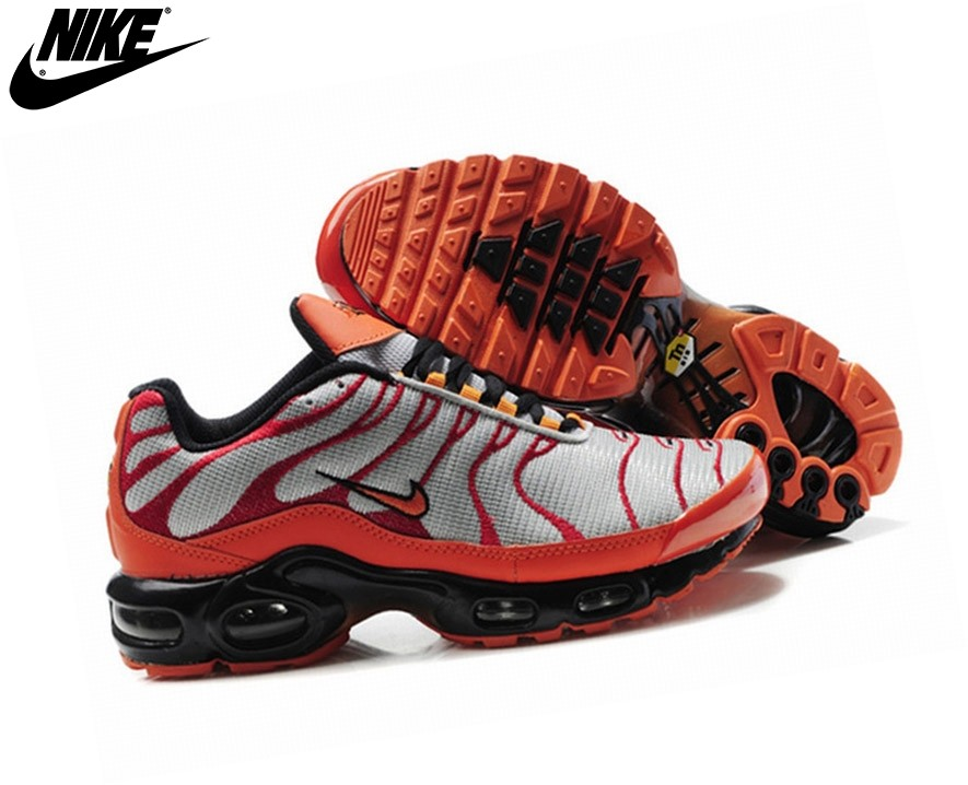 Nike Homme Chaussures De Course Tn Requin/Nike Tuned Orange/Argent - Nike Homme Chaussures De Course Tn Requin/Nike Tuned Orange/Argent