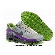 Nike Air Max 90 Hyperfuse Prm Gris Pourpre Femme