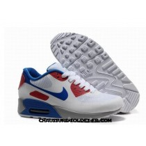 Nike Air Max 90 Hyperfuse Prm Homme Blanc Bleu Rouge Nike Air Max 90 For Women