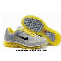Nike Air Max 2011 Netty Jaune Gris Homme Nike Air Max Tn Plus