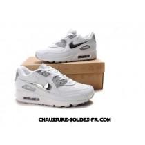 Nike Air Max 90 Blanc Silver Homme Www Nike Air Max 90