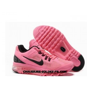 Nike Air Max 2013 Cushioning Rose Noir Femme Air Max