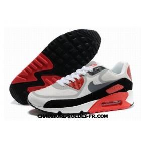 Nike Air Max 90 Prem Tape Gris Rouge Homme