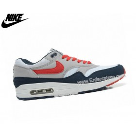 Nike Air Max 1 Baskets Homme Gris/Bleu