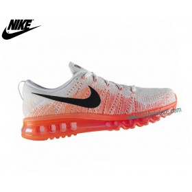 Nike Chaussures De Course Homme Flyknit Air Max Blanc/Hyper 620469-101