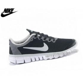Nike Free 3.0 Chaussures De Course Homme Noir/Blanc
