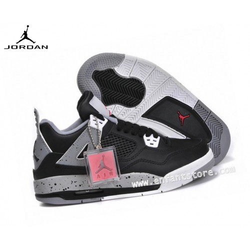 Nike Air Jordan 4/v Retro Gs Homme Sneakers Noir/Gris