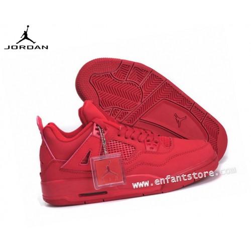 Nike Air Jordan 4/v Retro Gs Homme Sneakers Rouge