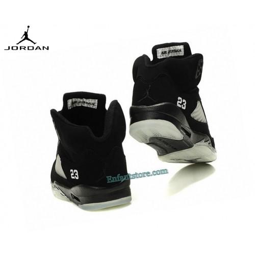 Nike Chaussures Basket_Ball Femme Air Jordan 5/v Retro Gs Noir 440888-004