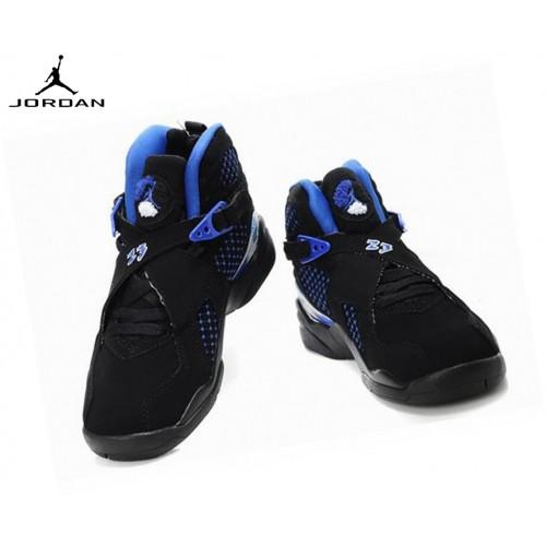 Air Jordan 8 Retro Nike Air Jordan Chaussures De Sport Fille Noir/Bleu