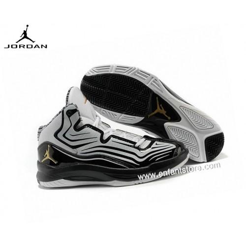 Nike Baskets Homme Air Jordan Aero Mania Blanc/Nior