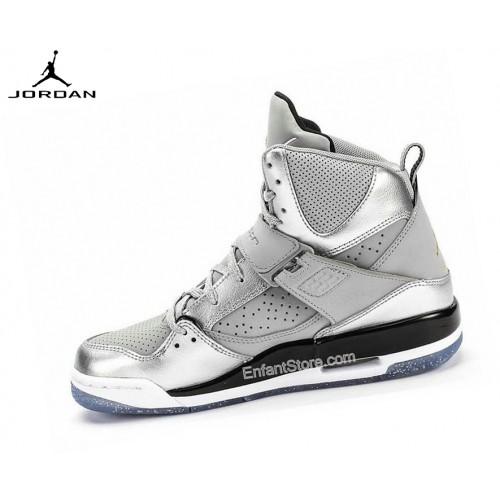 Nike Air Jordan Flight 45 High Gs Baskets Running Argent
