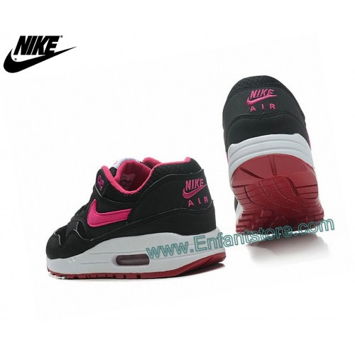 Nike Femme Sneakers Wmns Air Max 1 Essential Gs Noir/Rose 599820-004
