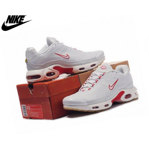 Nike Tn Requin/Nike Tuned 1 Fille Baskets Blanc/Rouge