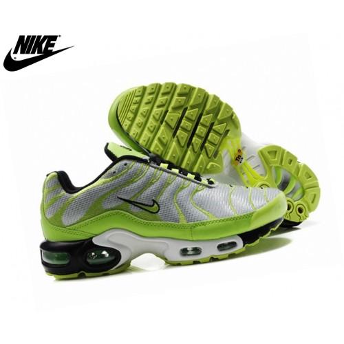 Nike Homme Chaussures De Course Tn Requin/Nike Tuned Vert/Argent